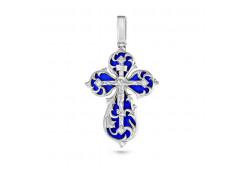 Крест из серебра 925 пробы с фианитом