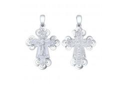 Крест из серебра 925 пробы с эмалью