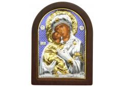 Икона Синтетический камень Малая БМ Владимирская