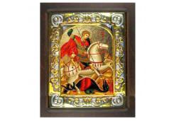 Икона Синтетический камень Малая св.Георгий Победоносец