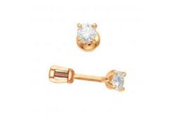 Золотая серьга с бриллиантом