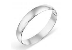Кольцо обручальное из белого золота 585 пробы