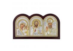 Икона Синтетический камень Большая Триптих