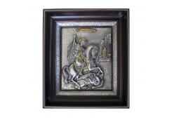 Икона Синтетический камень Большая св.Георгий Победоносец