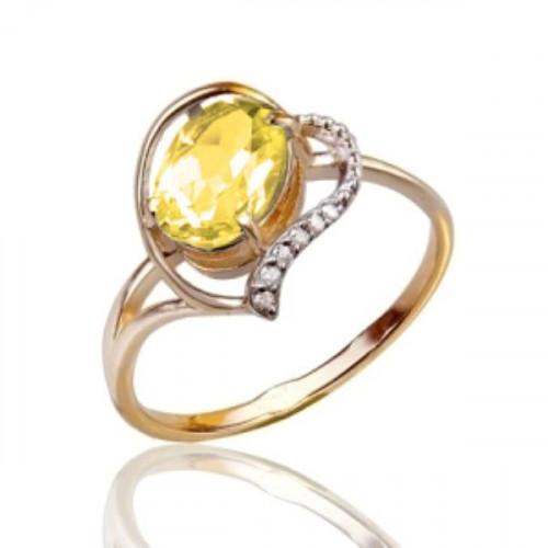 Золотое кольцо с цитрином