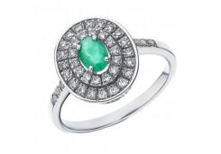 Серебряное кольцо с драгоценными камнями