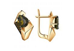 Золотые cерьги классические с ситалом