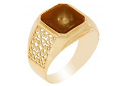 Печатка из золота с султанитом