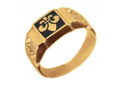 Печатка из золота с эмалью