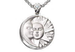 Серебряная подвеска с кристаллом Сваровски