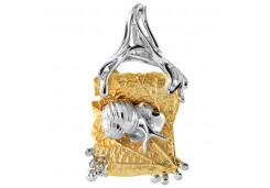 Серебряная подвеска с позолотой с кристаллом Сваровски