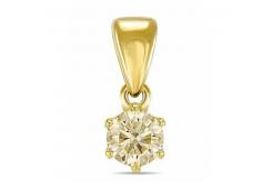 Подвеска из желтого золота с бриллиантом