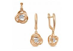 Комплект из золота с бриллиантом