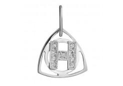 Серебряная подвеска с позолотой с фианитом